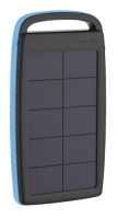 Xlayer Powerbank PLUS Solar Black/Blue 20000mAh